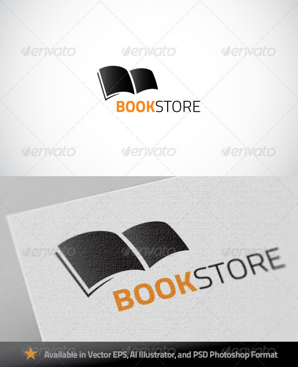 Graphic River Book Store Logo Logo Templates -  Objects 889256
