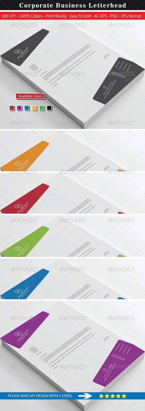 GraphicRiver High Rated Business Letterhead 8746428