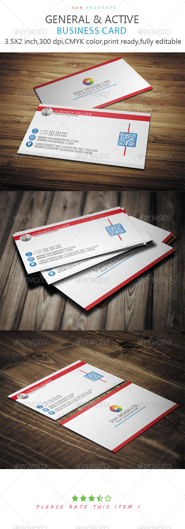 GraphicRiver General & Active Business Card Template 8746466