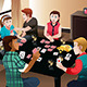 People Playing Cards - GraphicRiver Item for Sale