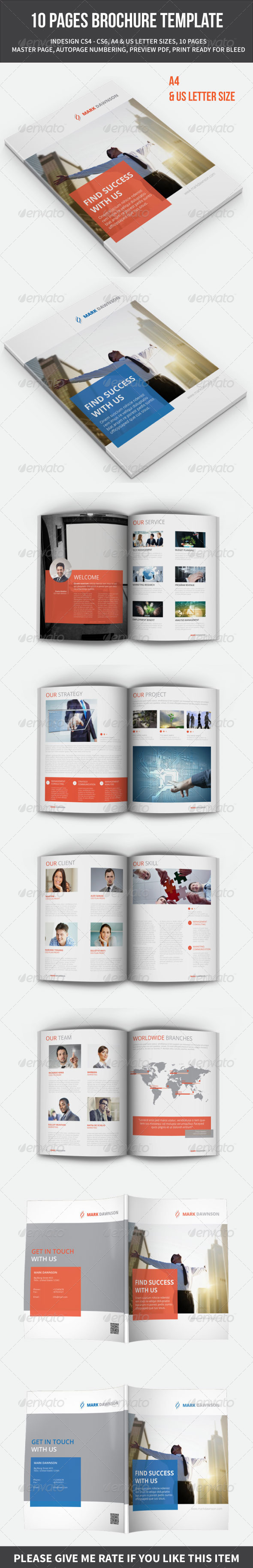 GraphicRiver 10 PAGES BROCHURE TEMPLATE 8739230