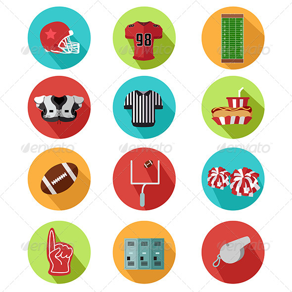 GraphicRiver American Football Icons 8746603