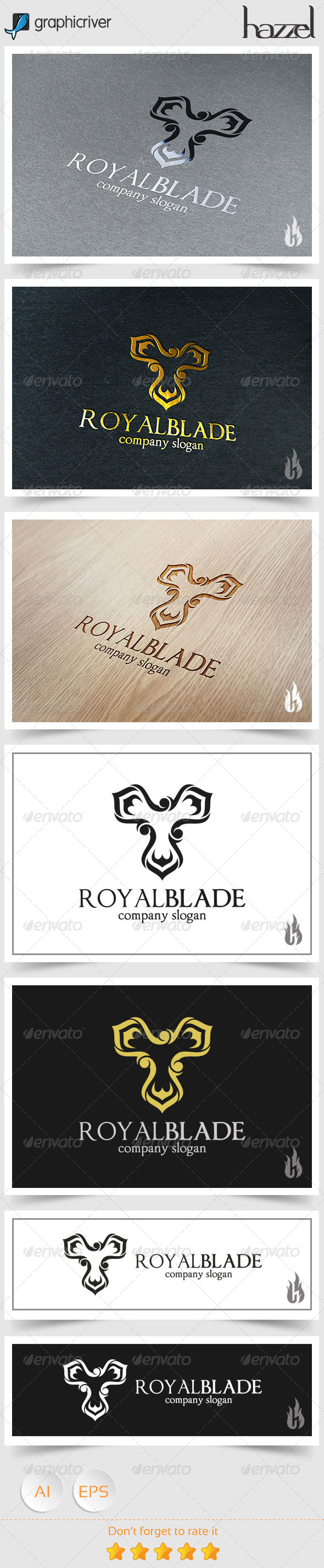 GraphicRiver Royal Blade Logo 8746731