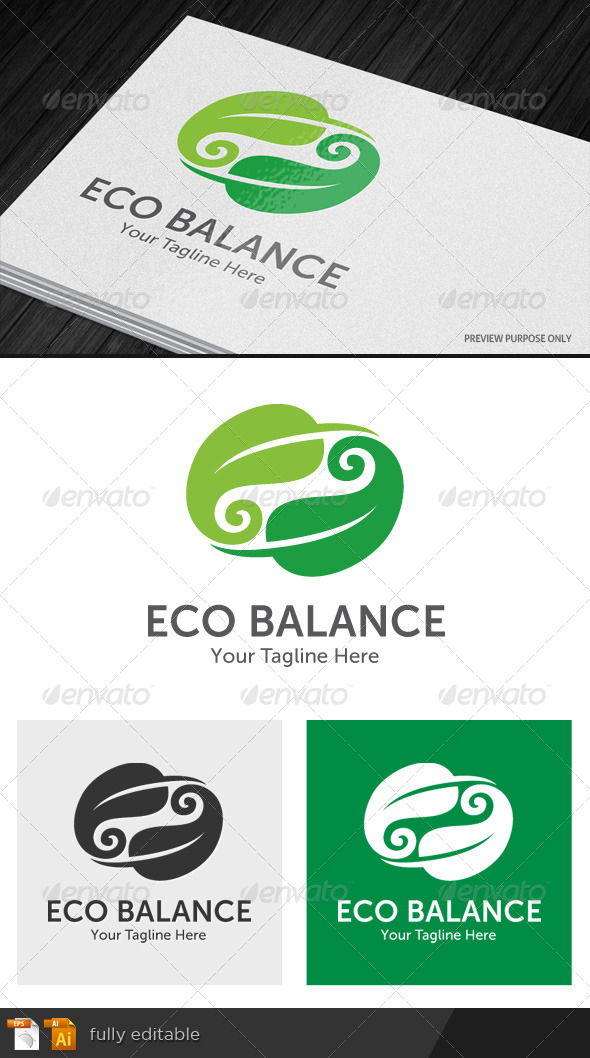 GraphicRiver Eco Balance Logo 8746754
