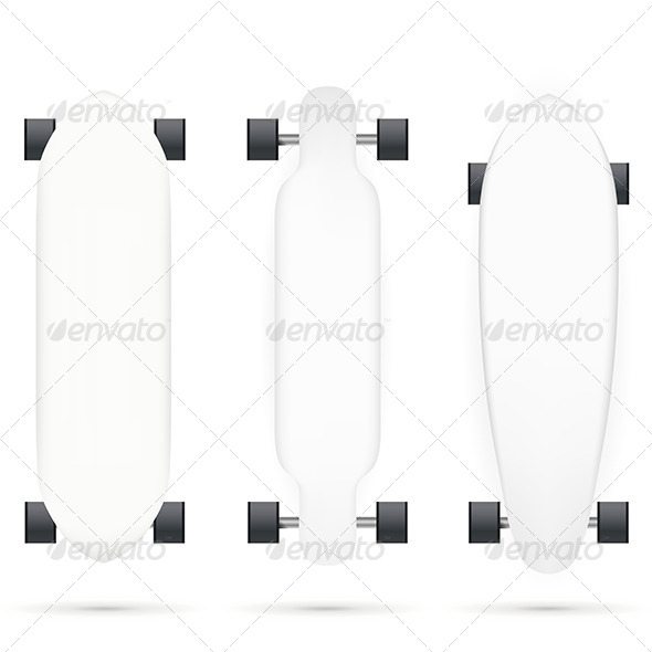 GraphicRiver Vector Mock-up for Longboards 8746966
