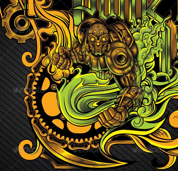 GraphicRiver Steampunk Illustration 8746983