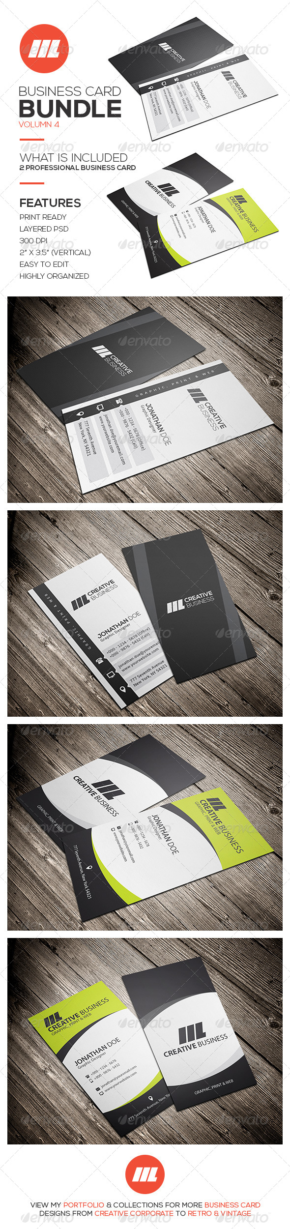 GraphicRiver Business Card Bundle Vol 4 8747004