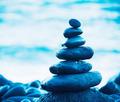 Stack of Round Smooth Zen Rocks - PhotoDune Item for Sale