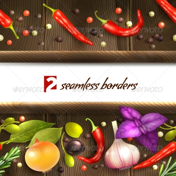 GraphicRiver Herbs and Spices Border 8747328