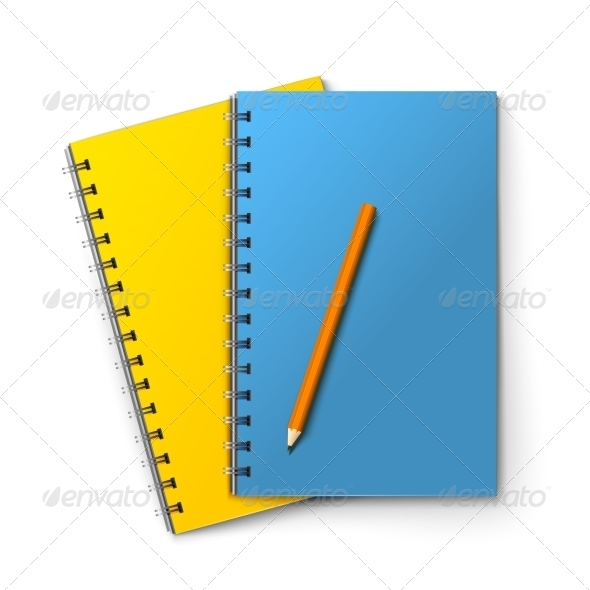 GraphicRiver Notepads and Pencil 8747329