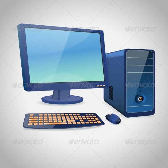 GraphicRiver Computer and Peripheral Blue 8747458