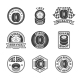 Tires Label Icon Set - GraphicRiver Item for Sale