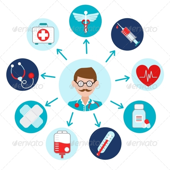 GraphicRiver Medical Icons Set 8747483
