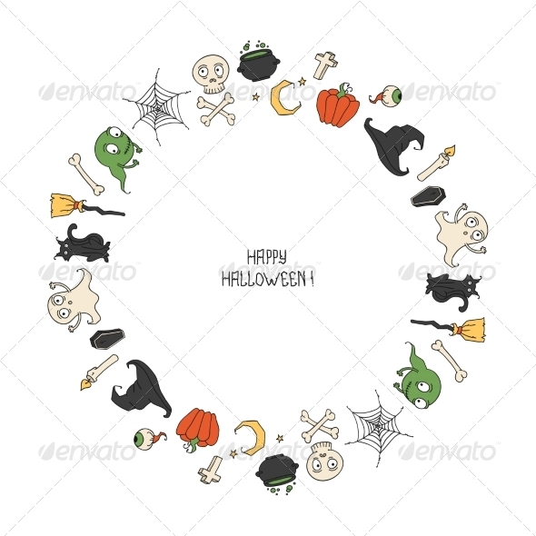 GraphicRiver Halloween Frame 8747485