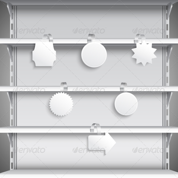 GraphicRiver Supermarket Shelves with Wobblers 8747514