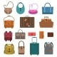 Bags Colored Icons Set - GraphicRiver Item for Sale