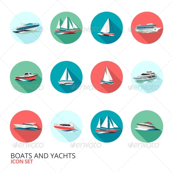 GraphicRiver Boats Icons Set 8747539