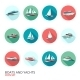 Boats Icons Set - GraphicRiver Item for Sale