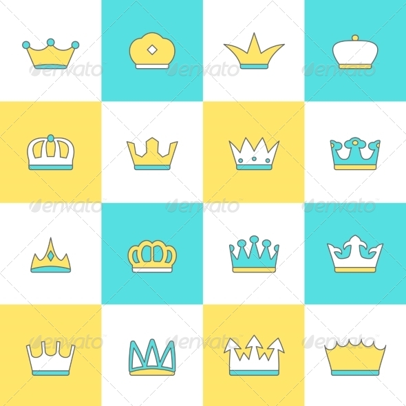 GraphicRiver Crown Icon Set 8747543
