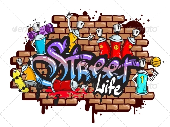 GraphicRiver Graffiti Word Characters Composition 8747545