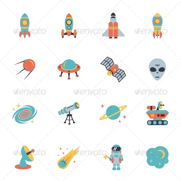 GraphicRiver Space Icons Set 8747546