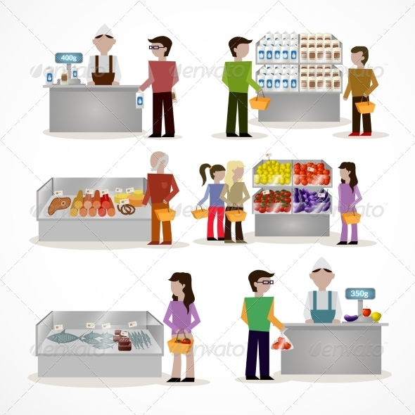 GraphicRiver People in Supermarket 8747556