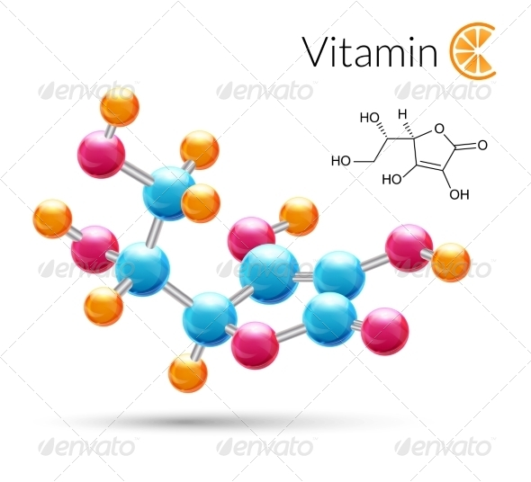 GraphicRiver Vitamin C Molecule 8747569