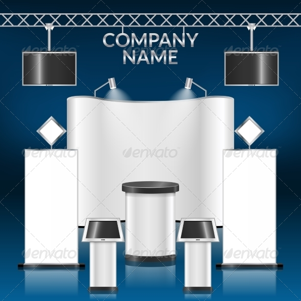GraphicRiver Exhibition Stand Blank 8747574