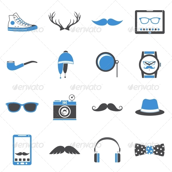 GraphicRiver Hipster Icons Set 8747575
