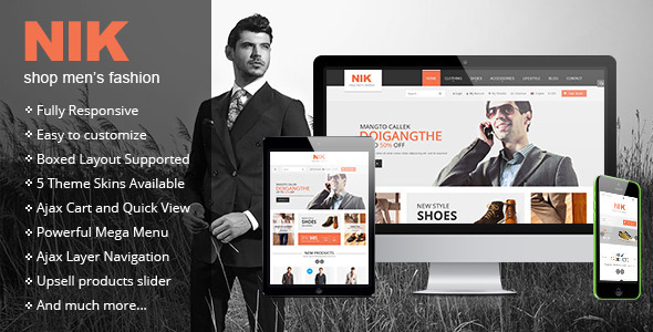 Nik - Responsive Magento Fashion Theme - Fashion Magento