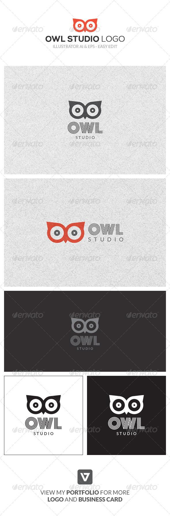 GraphicRiver Modern Owl Logo Template 8747900