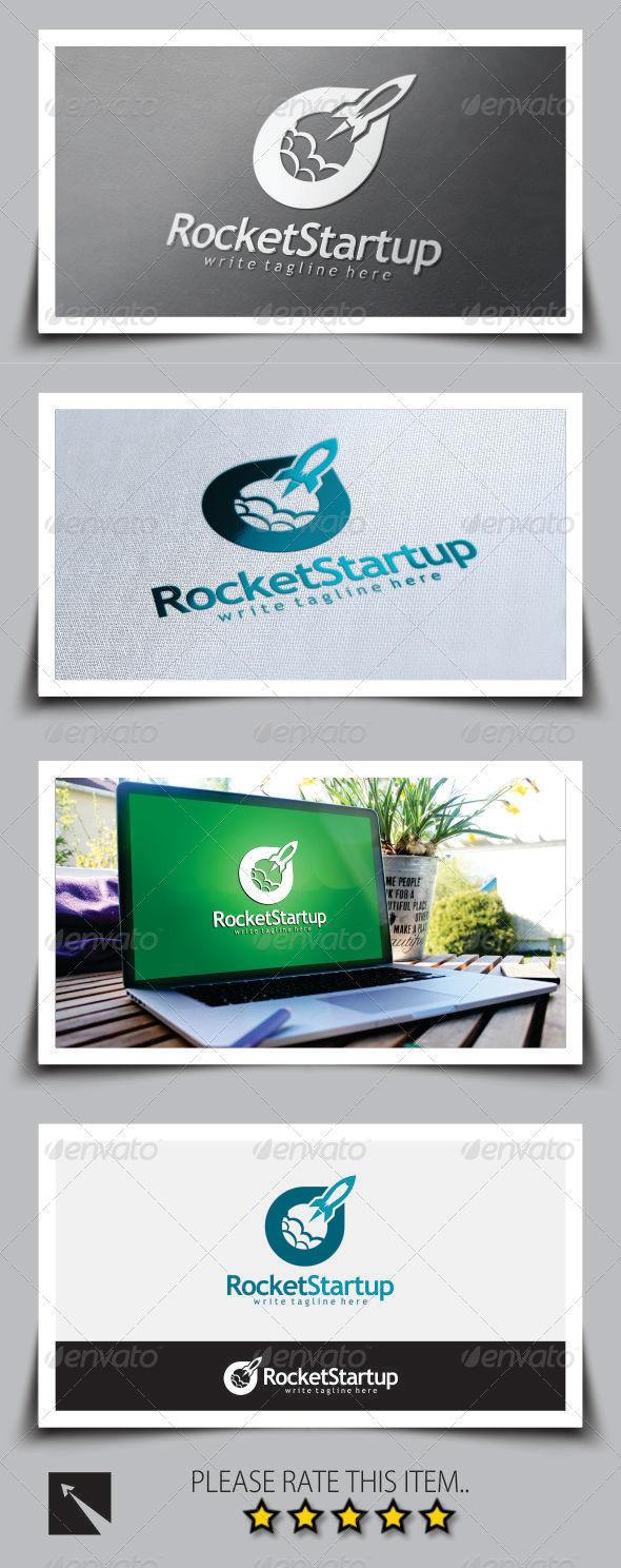 GraphicRiver Rocket Startup Logo Template 8747992