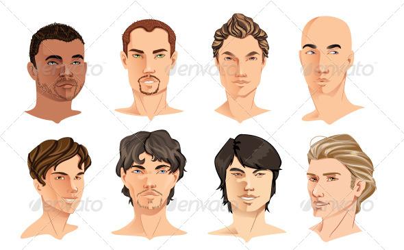 GraphicRiver Male Portraits 8748053