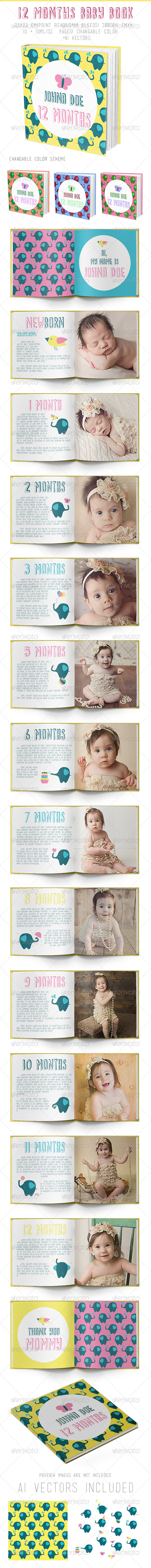 GraphicRiver 12 Months Baby Book 8748066