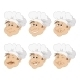 Set Cartoon Heads Chef in a Toque Caps - GraphicRiver Item for Sale