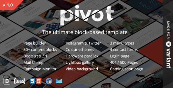 ThemeForest Pivot Multi-purpose Template with Page Builder 8748103
