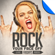 Rock Your Face Off Poster Flyer Template - GraphicRiver Item for Sale