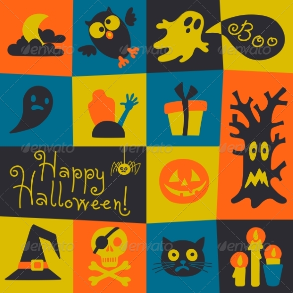 GraphicRiver Happy Halloween Card 8748131