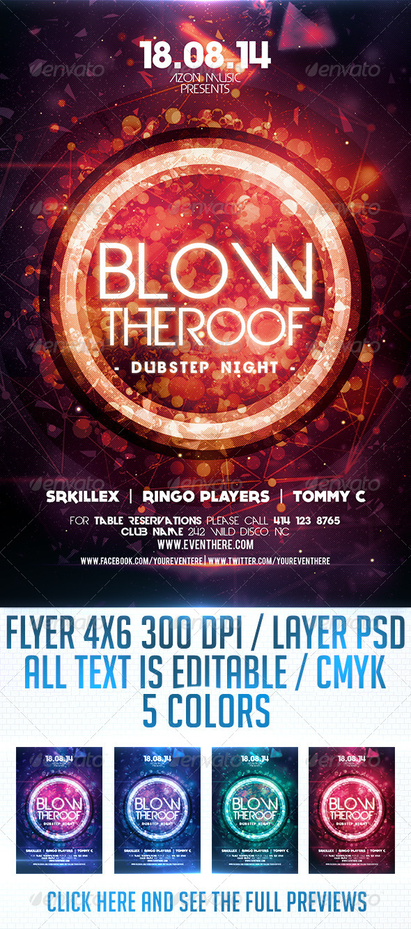 GraphicRiver Blow the Roof Flyer Template 8719182