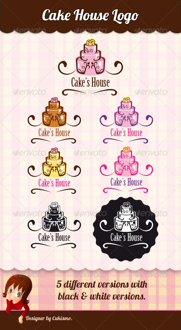 GraphicRiver Cake s House Logo 8748153