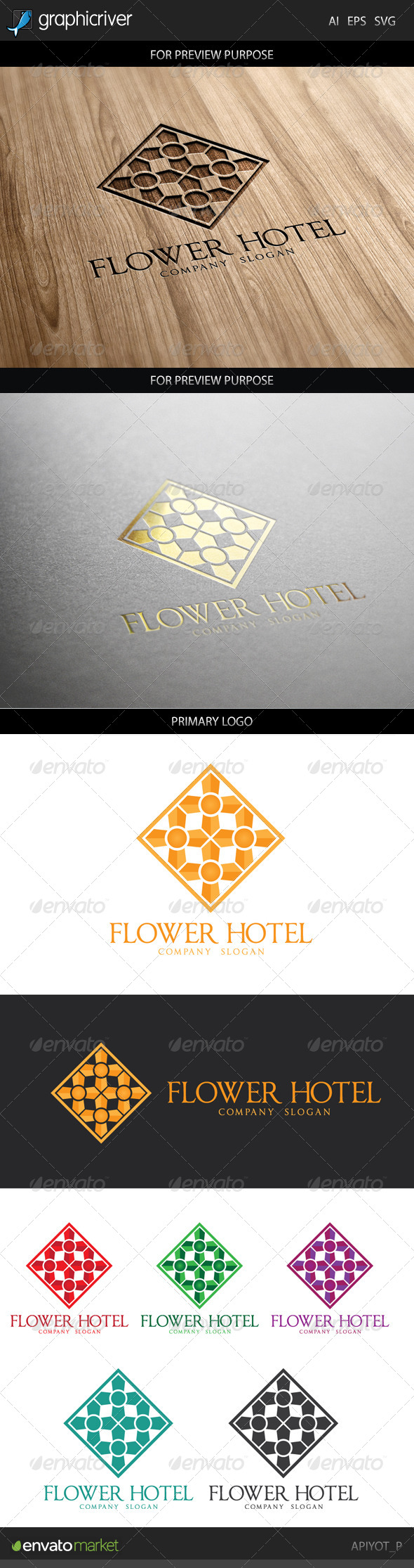 GraphicRiver Flower Hotel Logo 8748166
