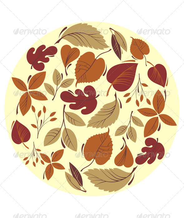GraphicRiver Autumn Leaf Background 8748273