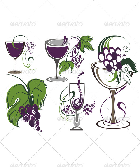 GraphicRiver Wine Icons 8748332
