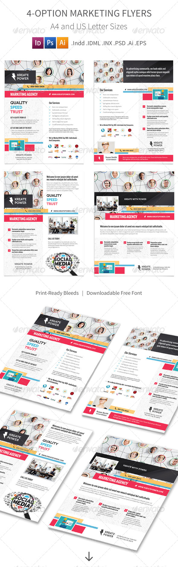 GraphicRiver Marketing and Advertising Flyers 4 Options 8748522