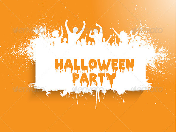GraphicRiver Grunge Halloween Party Background 8748527