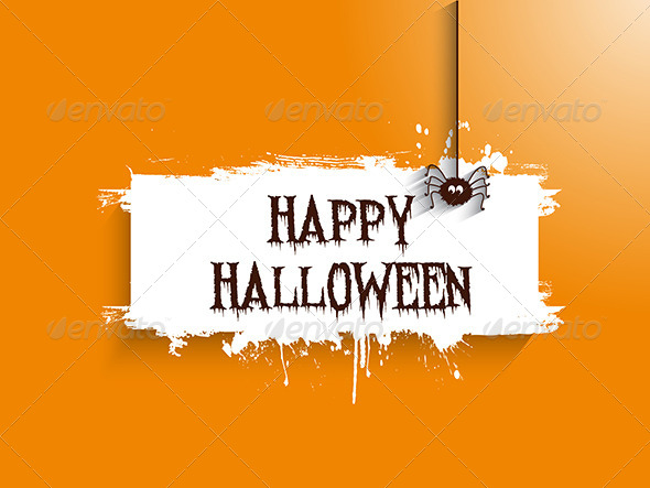 GraphicRiver Halloween Spider Background 8748539