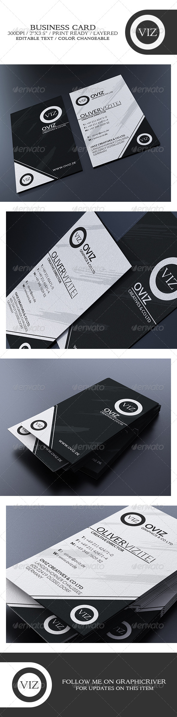GraphicRiver Black And White Business Card 8748560