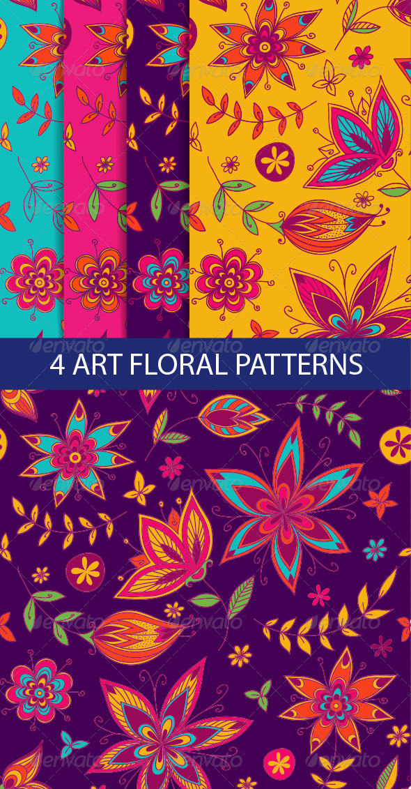 GraphicRiver Floral Seamless Pattern 8748572