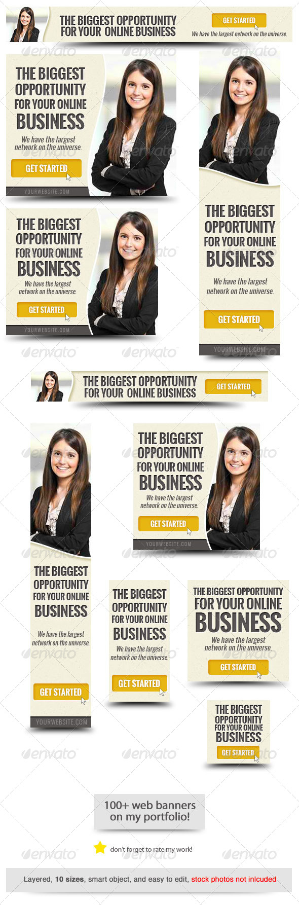GraphicRiver Corporate Web Banner Design Template 50 8748595