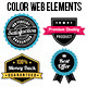 Colorful Web Elements Set - GraphicRiver Item for Sale
